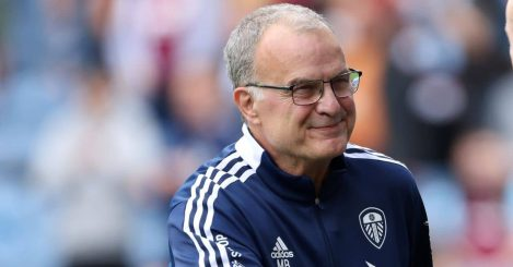 Leeds United manager Marcelo Bielsa during the Premier League match at Turf Moor, Burnley