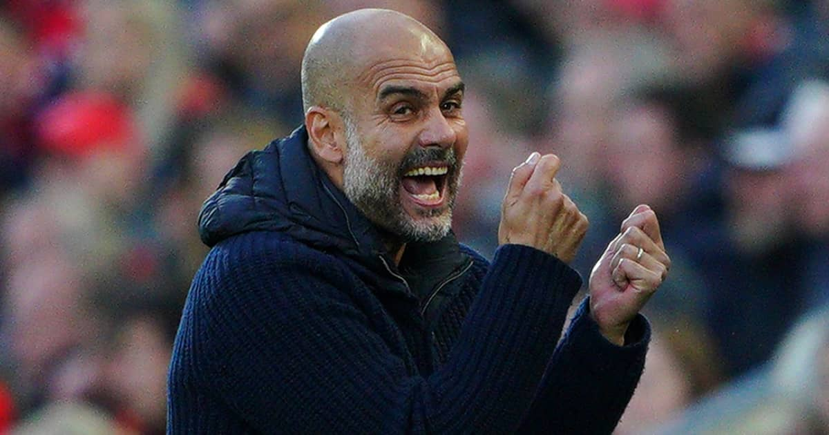Man City manager Pep Guardiola venting his anger 2021