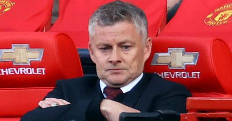 Manchester United manager Ole Gunnar Solskjaer appears dejected during the Premier League match at Old Trafford