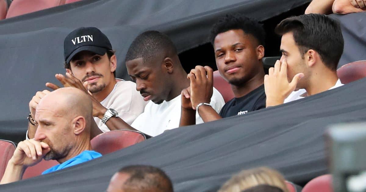 Ousmane Dembele, Ansu Fati, Eric Garcia Barcelona v Getafe, August 2021