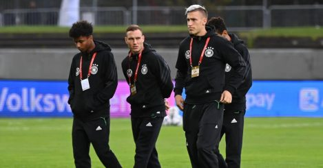 Karim Adeyemi, David Raum, Nico Schlotterbeck Germany September 2021