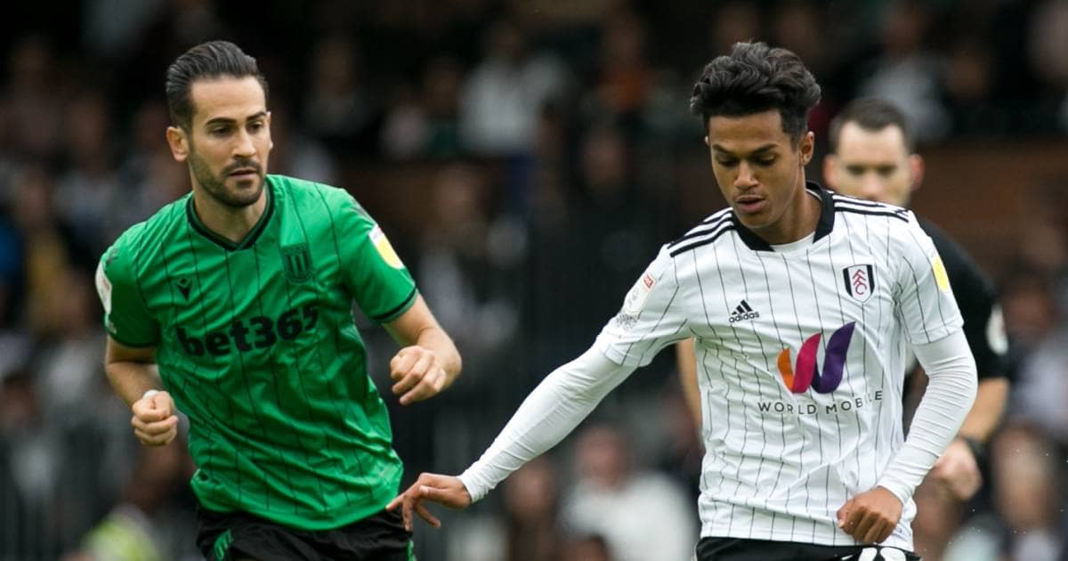 Fabio Carvalho in action for Fulham