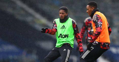 Anthony Martial, Fred West Brom v Man Utd February 2021