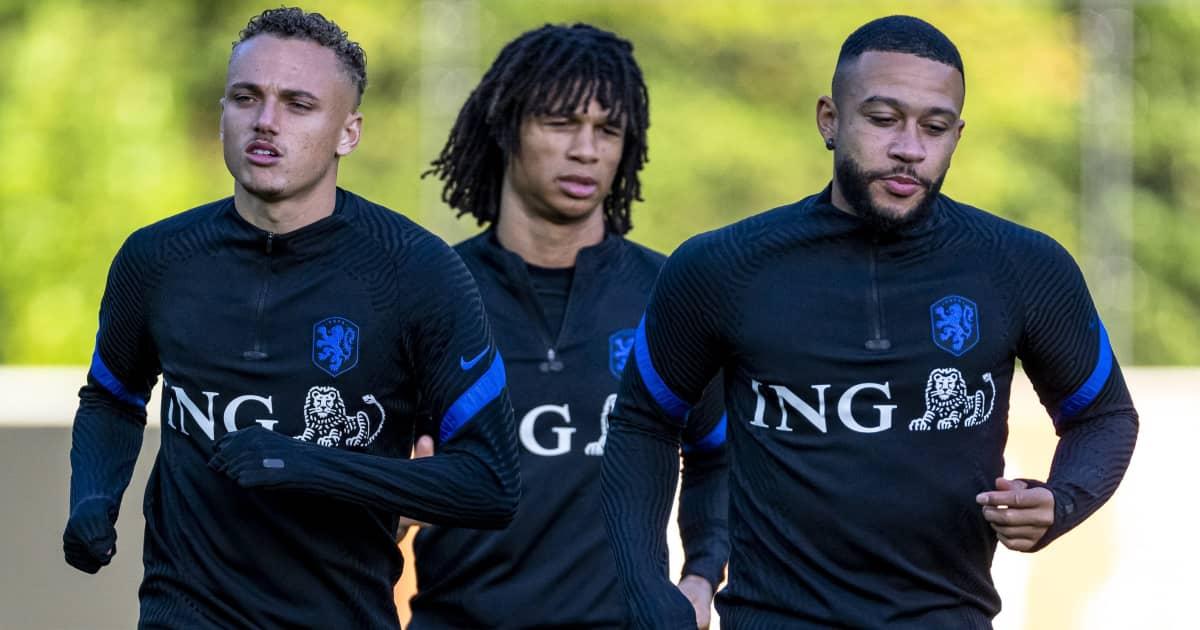 Netherlands trio Noa Lang, Nathan Ake and Memphis Depay 2021