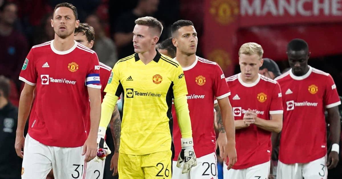 Nemanja Matic, Dean Henderson, Diogo Dalot, Donny van de Beek, Carabao Cup action for Manchester United