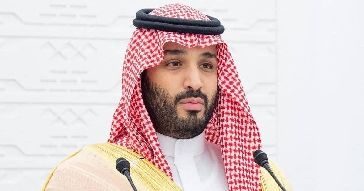 Mohammed Bin Salman giving a speech