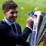 Steven Gerrard, Rangers boss with Scottish Premiership trophy
