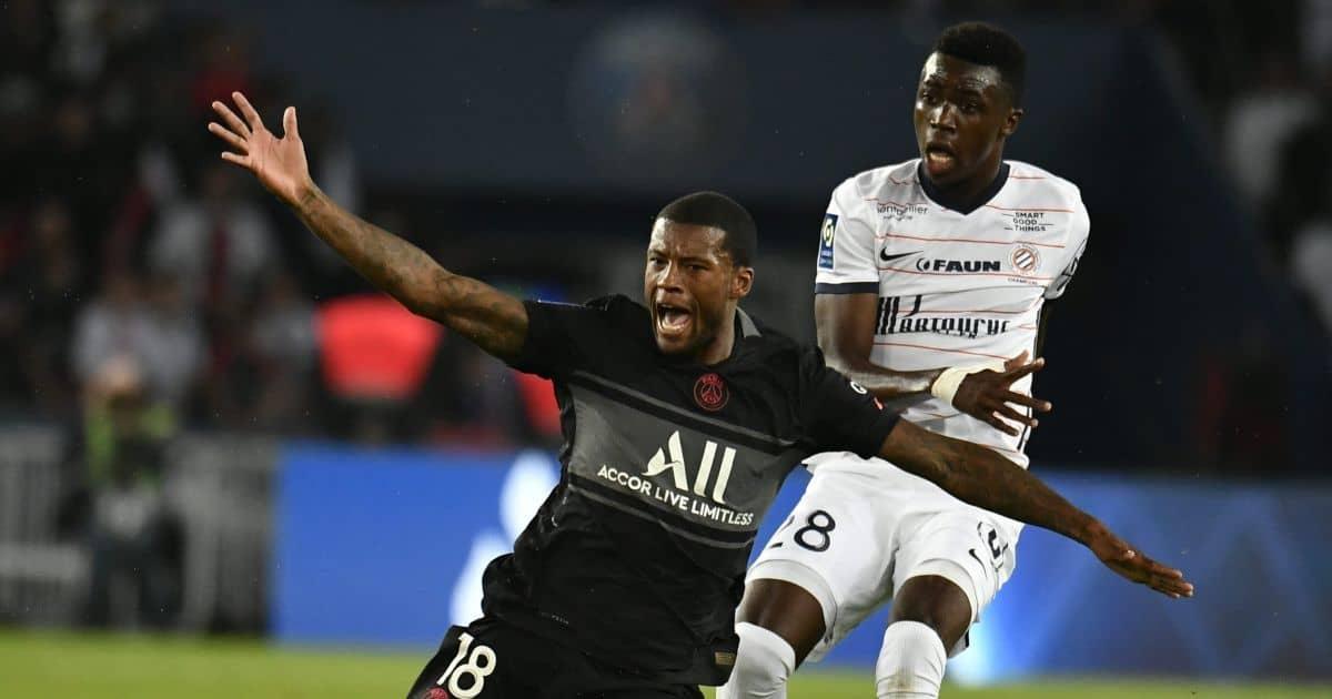 Georginio Wijnaldum, Beni Makouana PSG v Montpellier, September 2021
