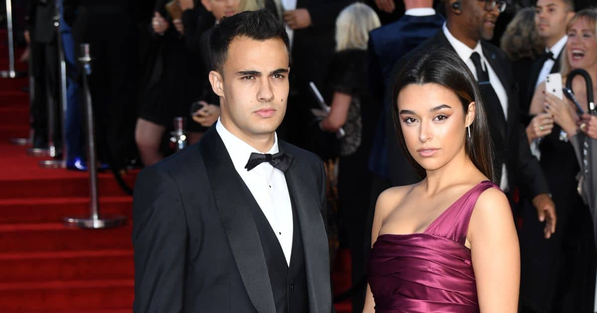 Sergio Reguilon Marta Diaz arriving at the No Time To Die World Premiere September 2021
