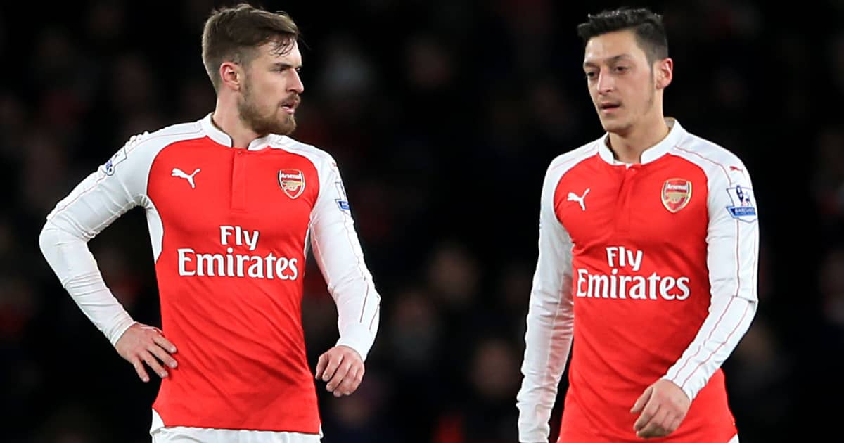 Former Arsenal pair Aaron Ramsey and Mesut Ozil in 2016