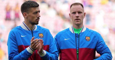 Barcelona pair Clement Lenglet and Marc Andre Ter Stegen 2021