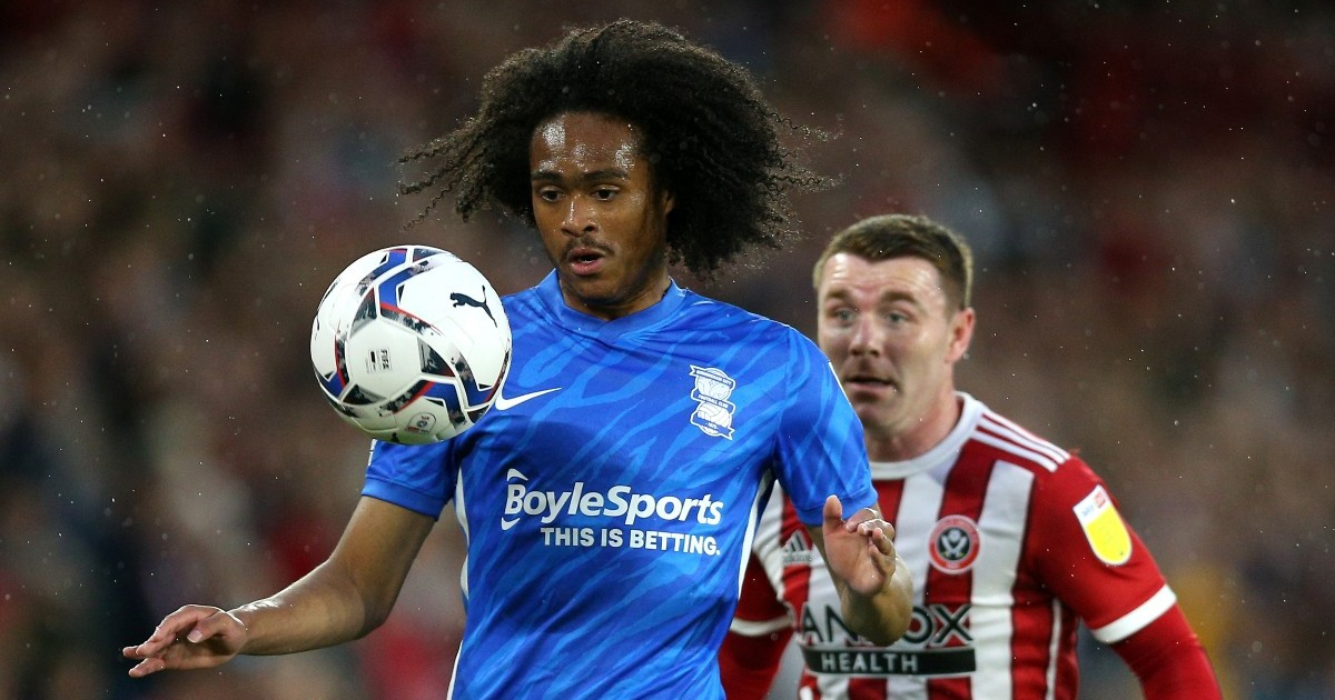 Tahith Chong in action for Birmingham