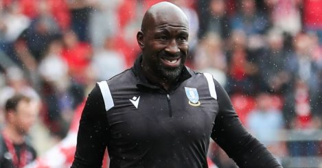 Sheffield Wednesday manager Darren Moore during the Sky Bet League One match at the AESSEAL New York Stadium, Rotherham.