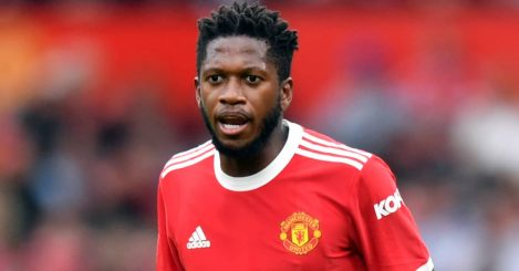Manchester United midfielder Fred during a pre-season friendly in 2021