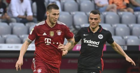 Niklas Sule and Filip Kostic in action