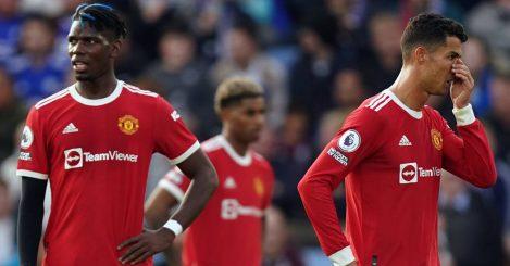 Paul Pogba and Cristiano Ronaldo vs Leicester, October 2021