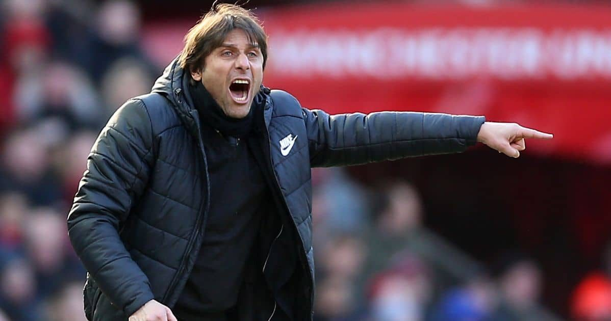 Antonio Conte during his Chelsea days in a Premier League game at Manchester United