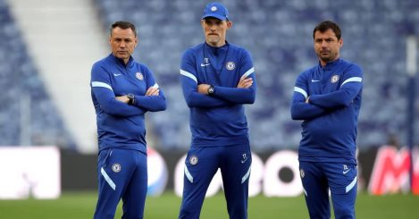 Chelsea coaches Thomas Tuchel, Arno Michels and Zsolt Low, May 2021