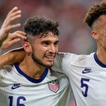 Liverpool target Ricardo Pepi celebrates scoring for USA