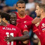 Mohamed Salah, Sadio Mane, Joel Matip and Jordan Henderson during Leeds vs Liverpool, September 2021