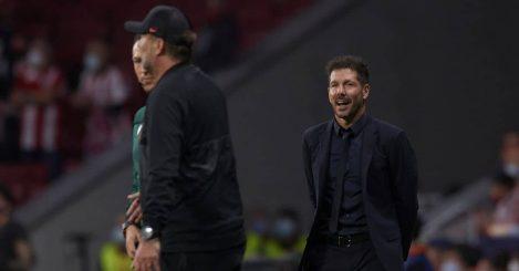 Diego Simeone, Jurgen Klopp Atletico Madrid v Liverpool October 2021