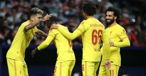 Naby Keita, Roberto Firmino, Trent Alexander-Arnold, Mohamed Salah Atletico Madrid v Liverpool October 2021