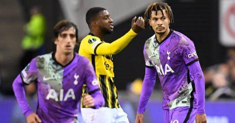 Dele Alli, Bryan Gil, Vitesse Arnhem v Tottenham October 2021