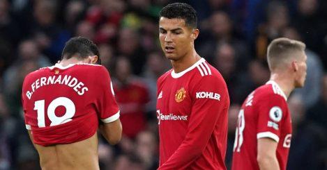 Man Utd stars Bruno Fernandes, Cristiano Ronaldo and Scott McTominay 2021