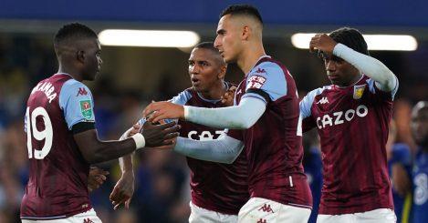 Aston Villa quartet Marvelous Nakamba, Ashley Young, Anwar El Ghazi and Jaden Philogene-Bidace 2021