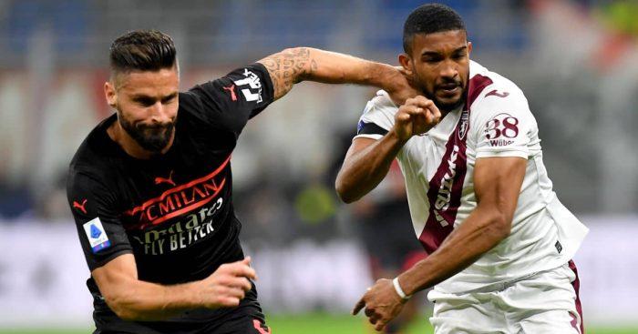 Olivier Giroud, Gleison Bremer, Torino Serie A clash with AC Milan